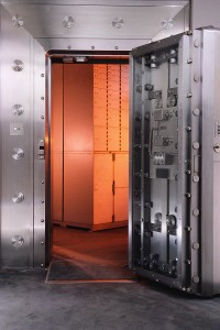Vault with Safe-deposit Boxes Inside